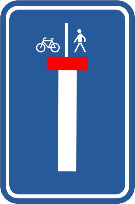 F45 living end pedestrian and bicycle